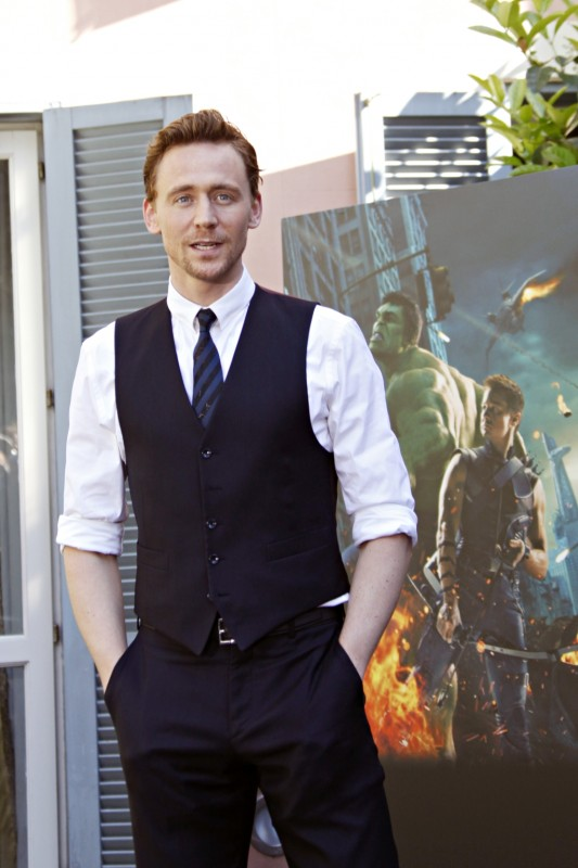 The Avengers: Tom Hiddleston al photocall romano di The Avengers