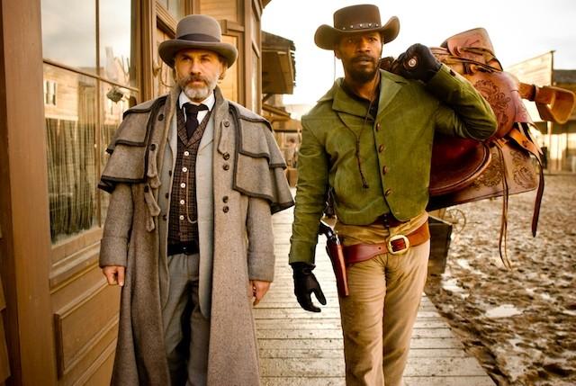 Christoph Waltz e Jamie Foxx, cacciatori di taglie in azione in Django Unchained
