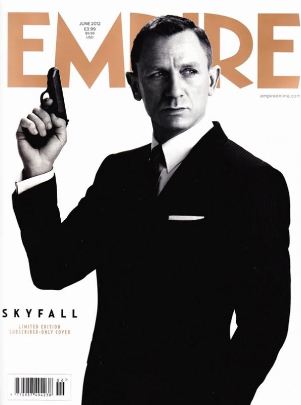 Daniel Craig nella copertina di Empire in bianco e nero dedicata a Skyfall