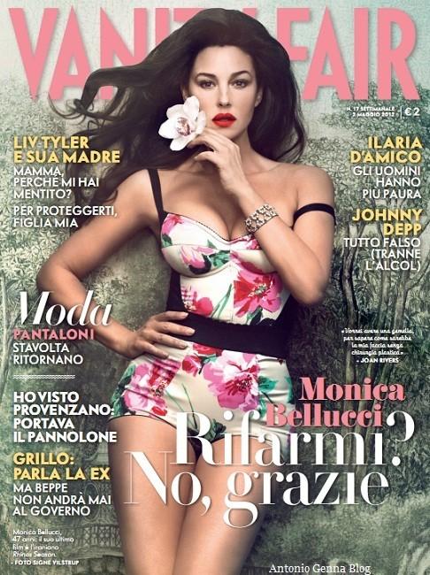 Monica Bellucci su Vanity Fair - aprile 2012