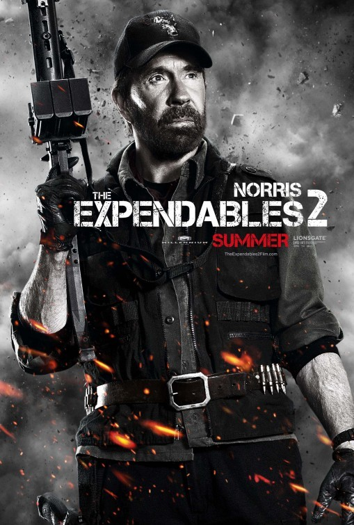 I mercenari 2 (The Expendables 2): character poster per Chuck Norris