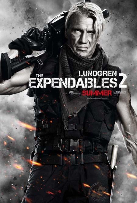 I mercenari 2 (The Expendables 2): character poster per Dolph Lundgren
