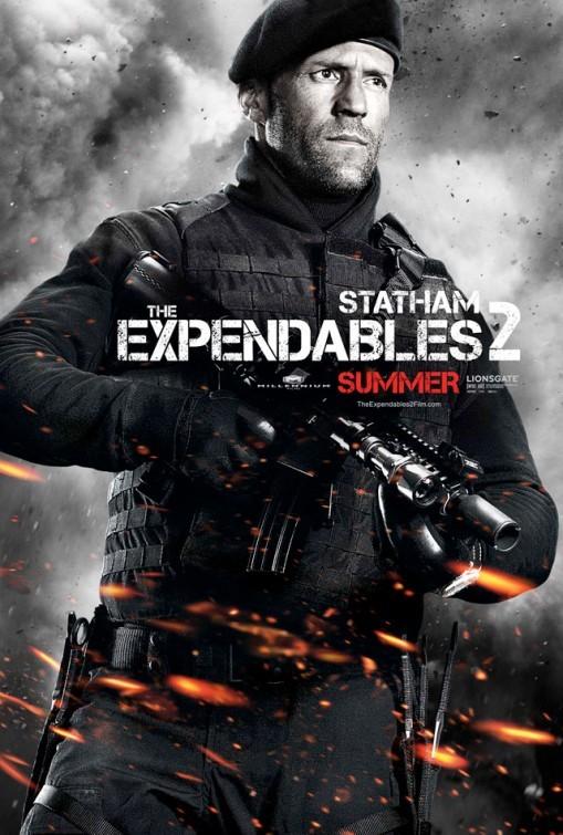 I mercenari 2 (The Expendables 2): character poster per Jason Statham