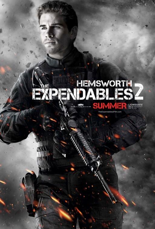 I mercenari 2 (The Expendables 2): character poster per Liam Hemsworth