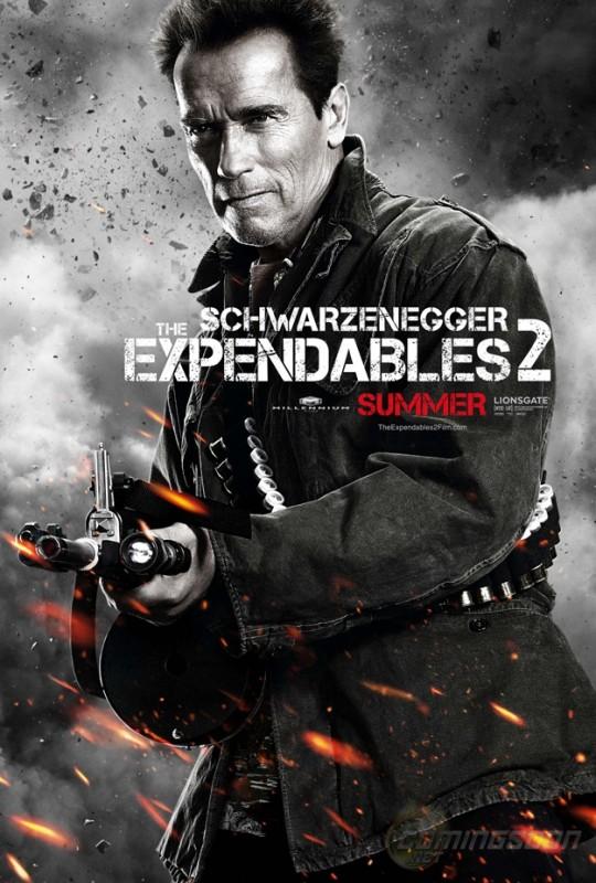 I mercenari 2 (The Expendables 2): character poster per Arnold Schwarzenegger