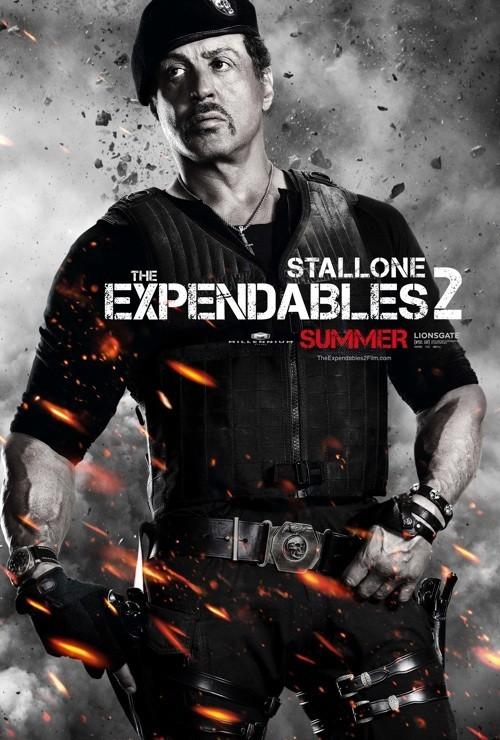 I mercenari 2 (The Expendables 2): character poster per Sylvester Stallone