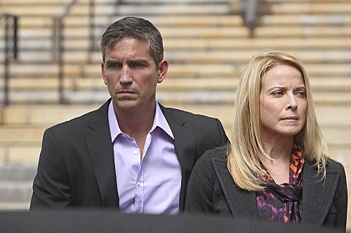 Person of Interest: James Caviezel e Meredith Patterson nell'episodio Judgement