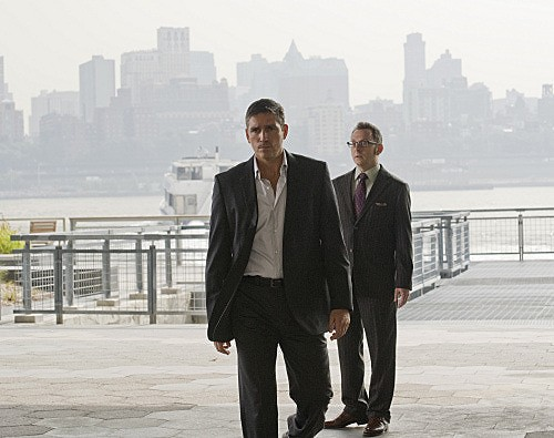 Person of Interest: James Caviezel e Michael Emerson  in una scena dell'episodio Witness
