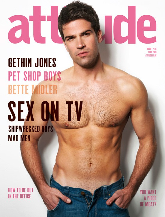 Gethin Jones in cover su Attitude