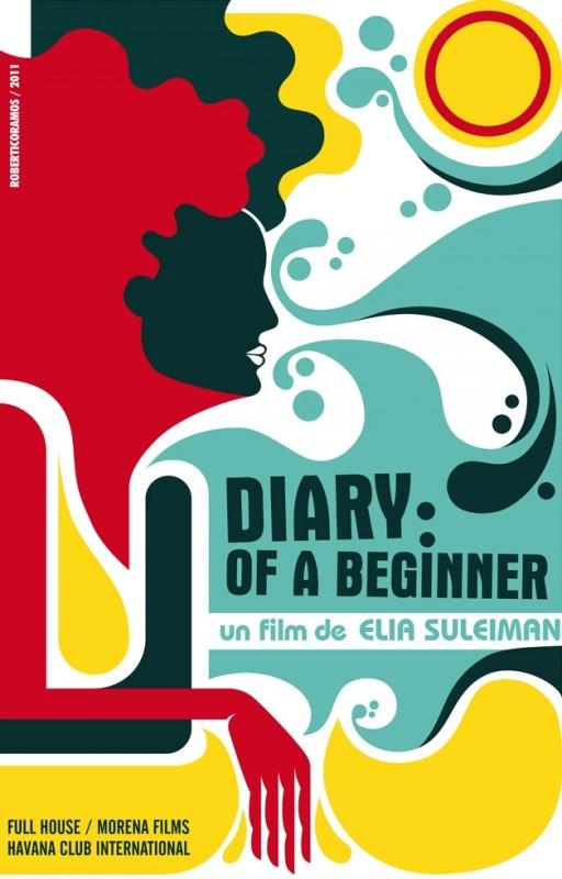 7 giorni all'Havana: il poster cubano dell'episodio Diary of a beginner (giorno 4) diretto da Elia Suleiman