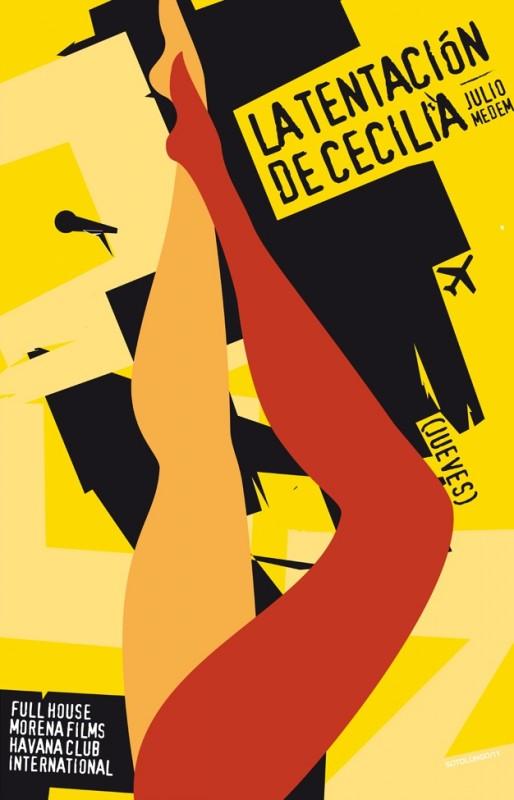 7 giorni all'Havana: il poster cubano dell'episodio La tentación de Cecilia (giorno 3) diretto da Julio Medem