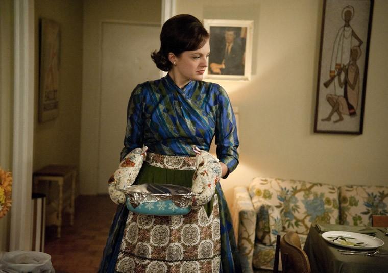 Elisabeth Moss nell'episodio At the Codfish Ball della quinta stagione di Mad Men