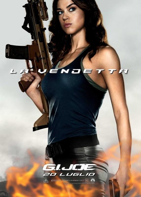 G.I. Joe: La vendetta, Adrianne Palicki nel character poster italiano del suo personaggio Lady Jaye