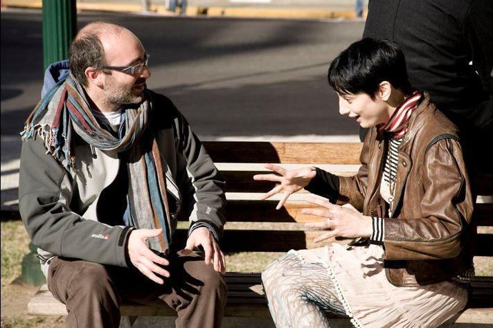 Il richiamo: Francesca Inaudi sul set del film col regista Stefano Pasetto