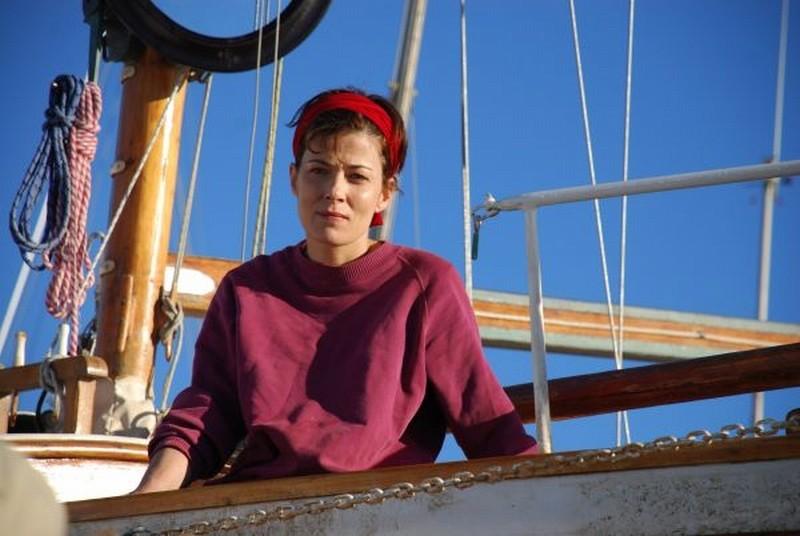 Il richiamo: Sandra Ceccarelli in versione marinara in una scena del film
