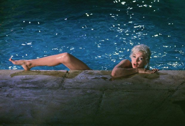 Una splendida Marilyn Monroe in una sequenza di Something's Got to Give