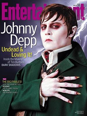 Johnny Depp nei panni del vampiro Barnabas Collins sulla copertina di Entertainment Weekly