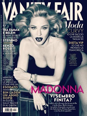 Madonna sulla cover di Vanity Fair Italia, maggio 2012