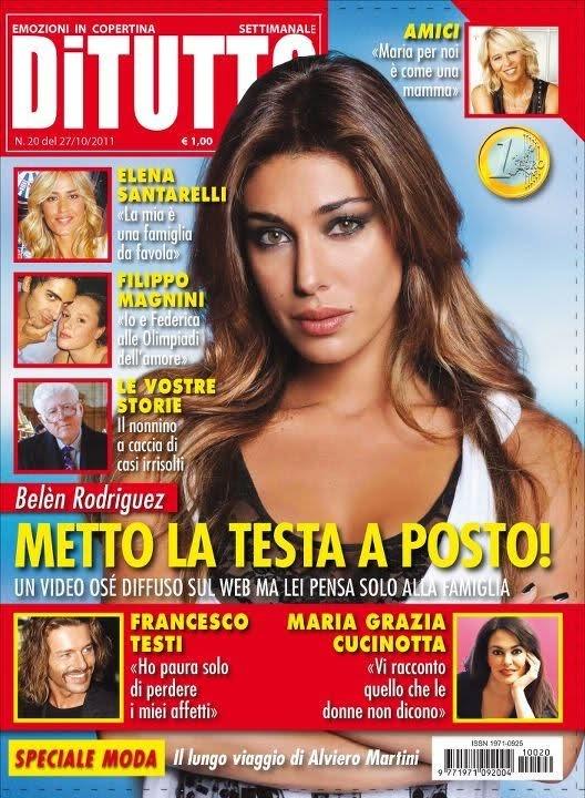 Belen Rodriguez sulla cover di DITUTTO