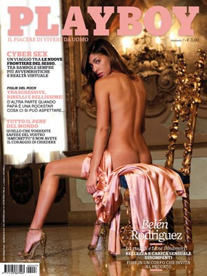 Belen Rodriguez sulla cover di Playboy