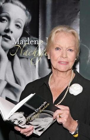 Maria Riva alla presentazione di un libro su Marlene Dietrich
