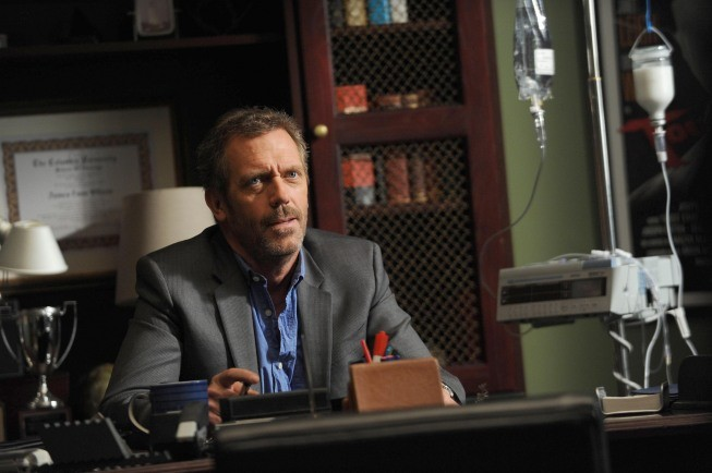 Dr House: Hugh Laurie in un momento dell'episodio Holding On