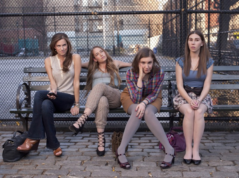 Girls: Allison Williams, Jemima Kirke, Lena Dunham e Zosia Mamet nella serie HBO