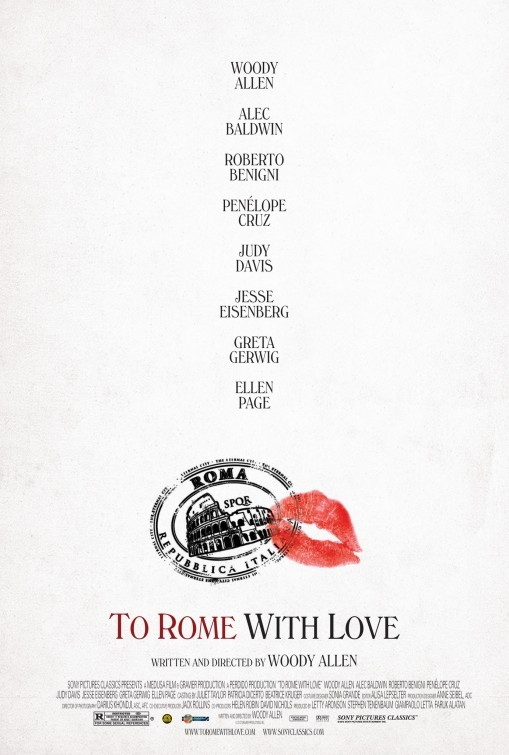 To Rome with Love: poster USA
