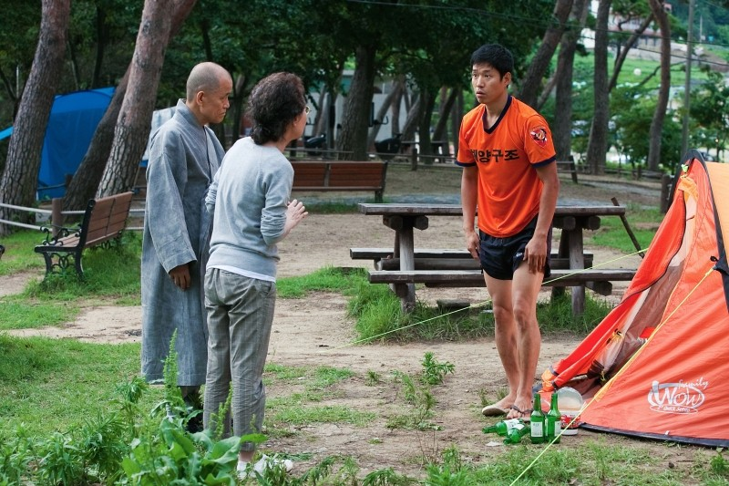 In Another Country: Jun-sang Yu in una scena del film
