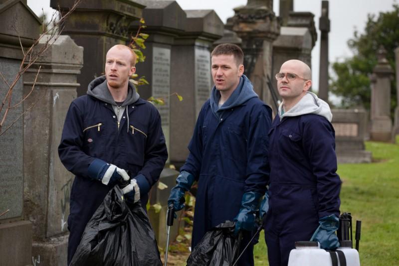The Angels' Share: Paul Brannigan, William Ruane e Gary Maitland in una scena del film