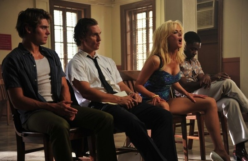 The Paperboy: Matthew McConaughey, Nicole Kidman e Zac Efron in una scena del film insieme a David Oyelowo