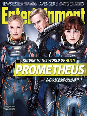 Charlize Theron, Michael Fassbender e Noomi Rapace nella nuova copertina di Entertainment Weekly