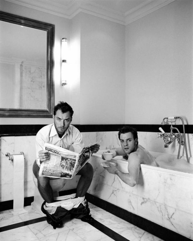 In bagno con Jude Law ed Ewan McGregor