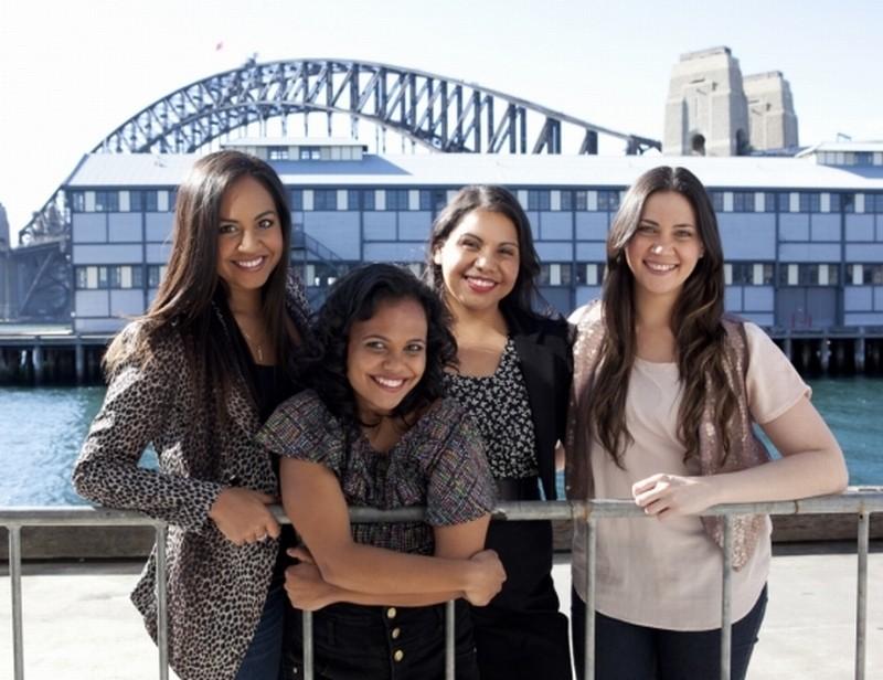 The Sapphires: le protagoniste del film Jessica Mauboy, Deborah Mailman, Shari Sebbens, Miranda Tapsell in una foto promozionale