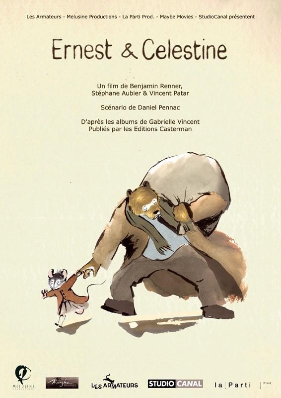 Ernest et Célestine: il poster del film
