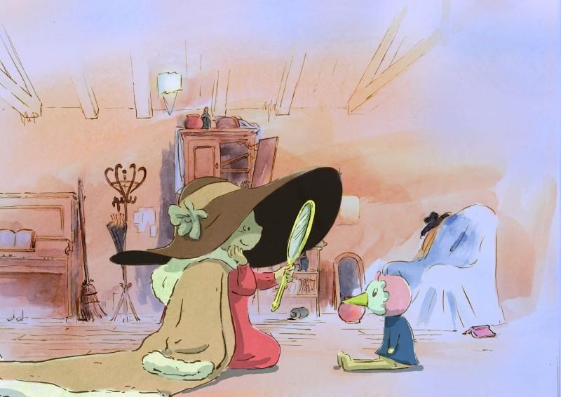 Ernest et Célestine: la topolina Célestine in un'allegra scena del film