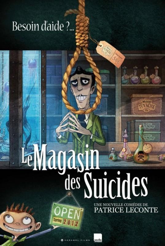 Le magasin des suicides: il poster del primo film d'animazione diretto da Patrice Leconte