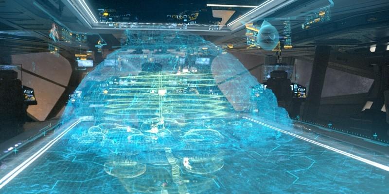 Prometheus: una tecnologica scena ad effetto tratta dal film