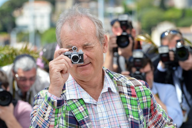 Bill Murray scatta foto sulla Criosette durante il photocall di Moonrise Kingdom
