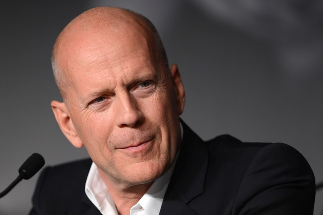 Bruce Willis durante la conferenza stampa di Moonrise Kingdom a Cannes