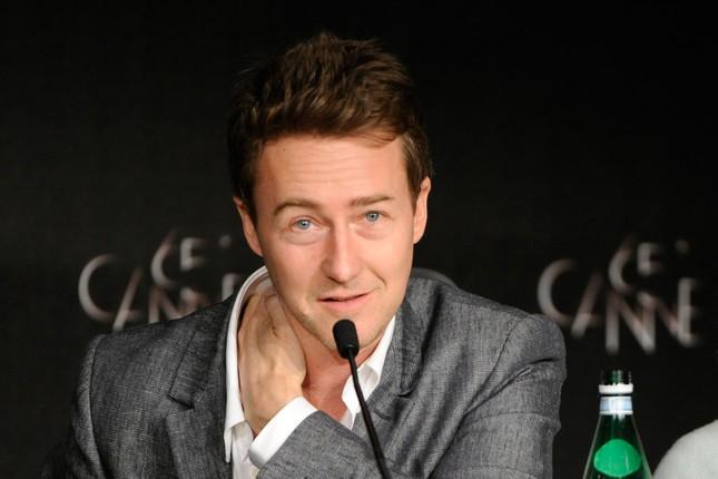 Edward Norton durante la conferenza stampa di Moonrise Kingdom a Cannes