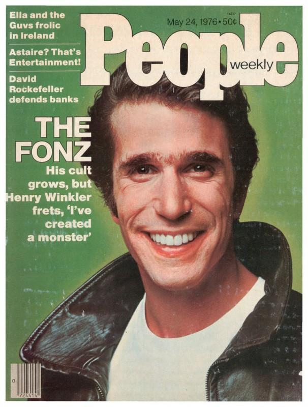 Henry Winkler è Fonzie in una copertina di People dedicata al fenomeno Happy Days