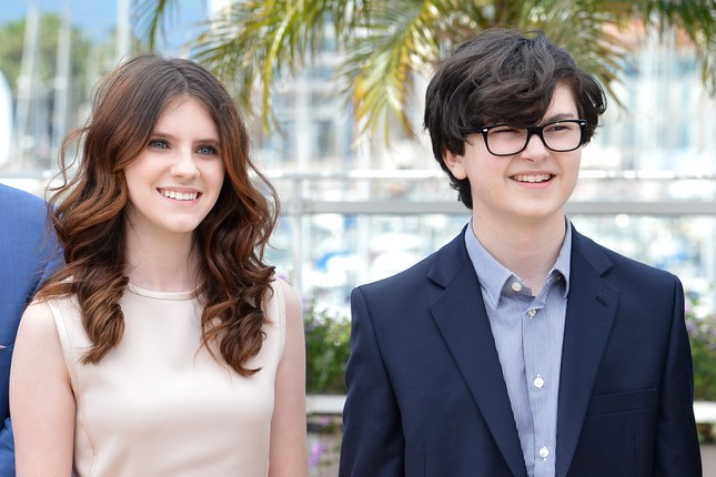 I due giovani protagonisti di Moonrise Kingdom Jared Gilman e Kara Hayward a Cannes