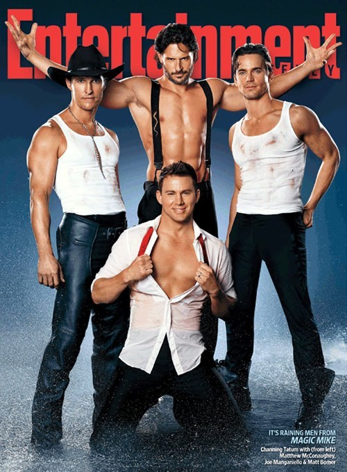 Magic Mike: Channing Tatum, Matthew McConaughey, Joe Manganiello e Matt Bomer sulla cover di Entertainment Weekly