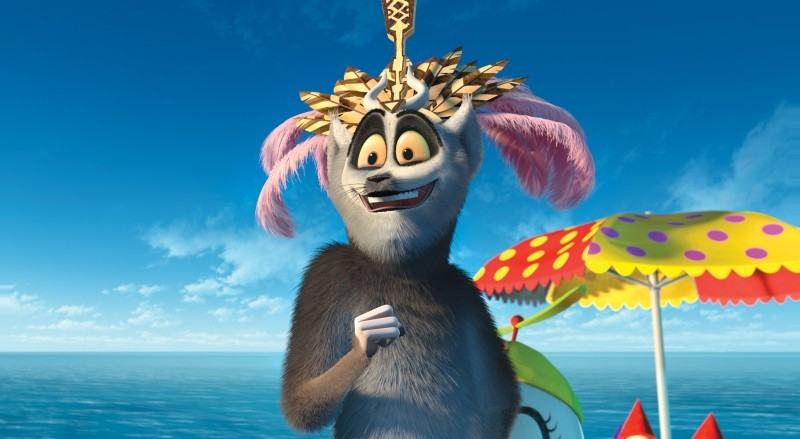 Madagascar 3: ricercati in Europa, King Julien in una scena del film