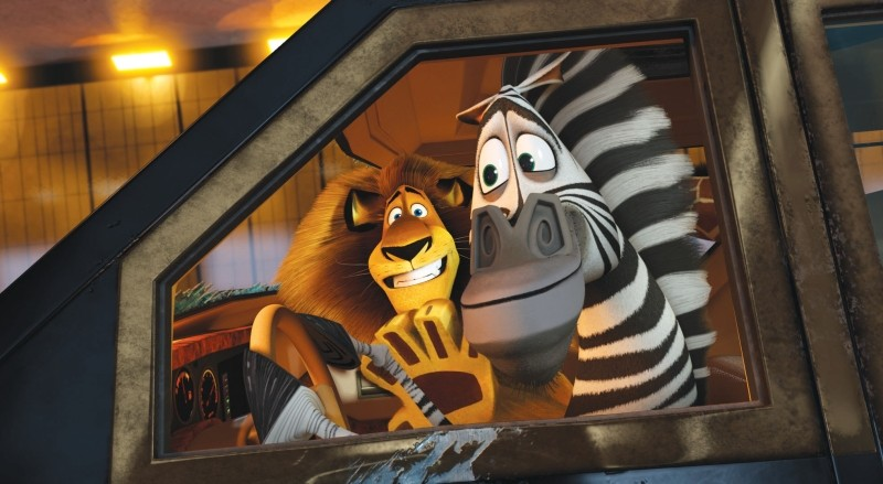 Madagascar 3: ricercati in Europa, Marty e Alex in una scena del film