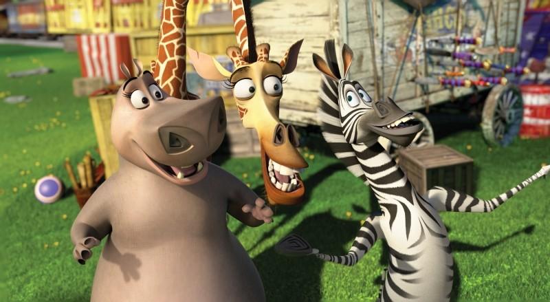 Madagascar 3: ricercati in Europa, Melman, Marty e Gloria in una divertente scena