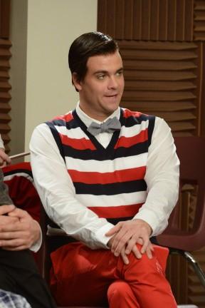 Mark Salling in una scena dell'episodio Props della terza stagione di Glee