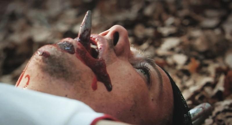 Paura: Domenico Diele in una macabra scena del film