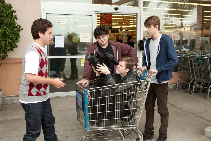 Project X: Oliver Cooper, Thomas Mann, Dax Flame (nel carrello) e Jonathan Daniel Brown in una scena